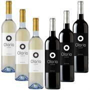 Kit Vinho Olaria 750ml 03 Branco Suave E 03 Tinto Suave