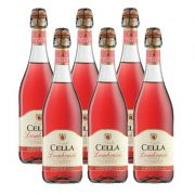 Lambrusco Frisante Dell emilia Cella Rose 750ml 06 Unidades