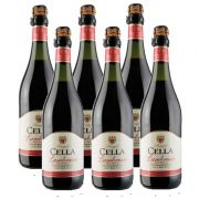 Lambrusco Frisante Dell emilia Cella Tinto 750ml 06 Unidades