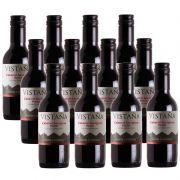 Mini Vinho Vistaña Santa Carolina Cabernet Merlot 187ml 12 Unidades