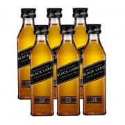 Miniatura Mini Whisky Black Label 50ml 06 Unidades