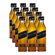 Miniatura Mini Whisky Black Label 50ml 12 Unidades