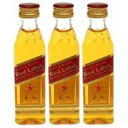 Miniatura Mini Whisky Red Label 50ml 03 Unidades