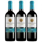 Vinho Argentino Santa Helena Reservado Malbec 750ml 03 Unid.