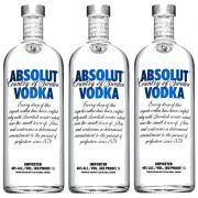 Vodka Absolut Natural 1 Lt 03 Unidades