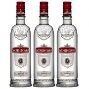 Vodka Polonesa Sobieski 750ml 03 Unidades