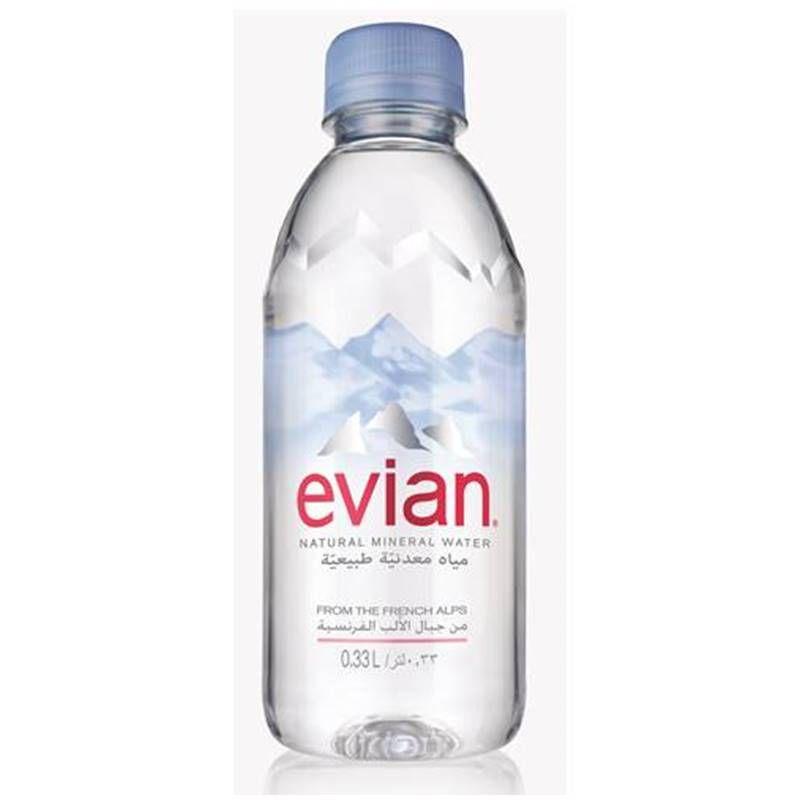 Água Mineral Evian Sem Gás 330ml 03 Unidades