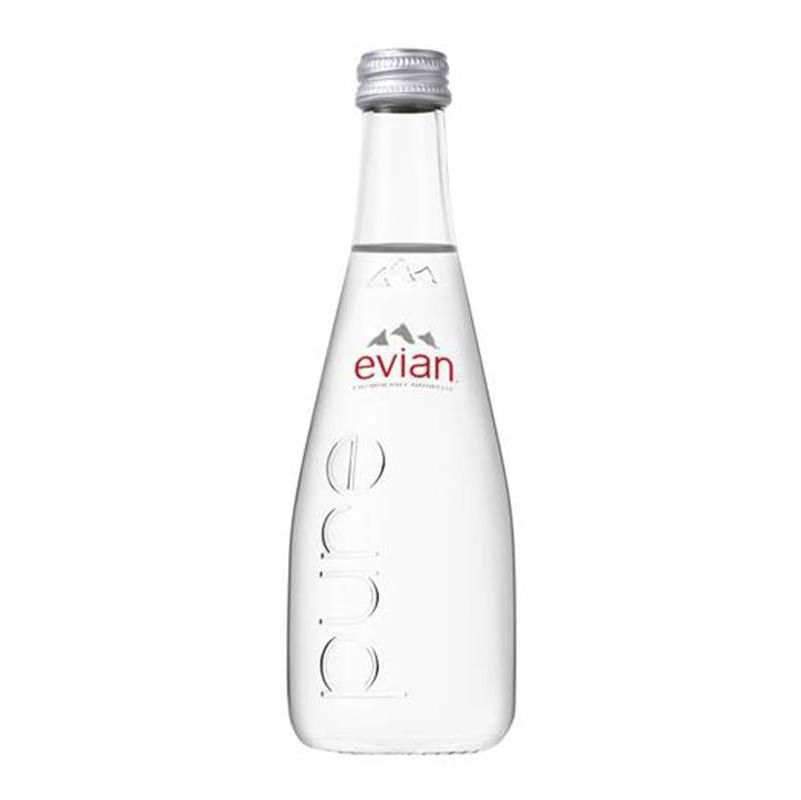 Água Mineral Evian Sem Gás Vidro 330ml