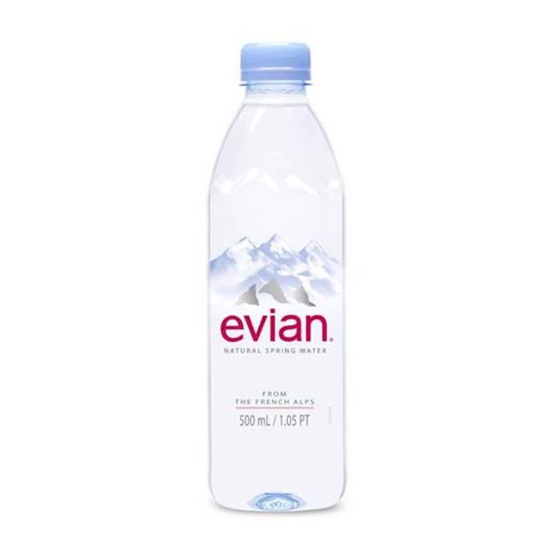 Água Mineral Evian Sem Gás 500ml 03 Unidades