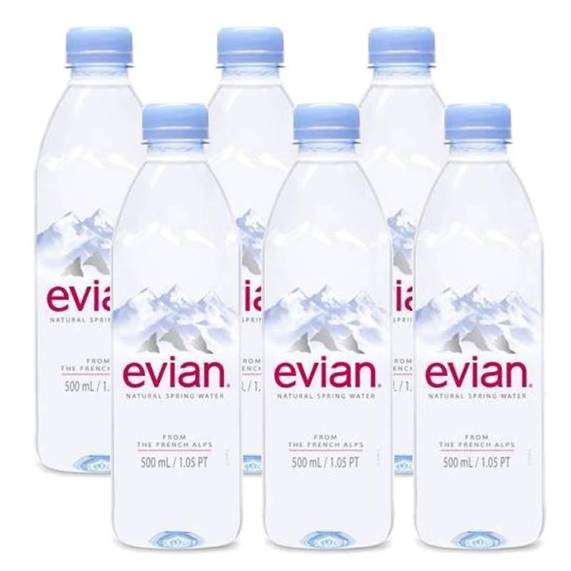 Água Mineral Evian Sem Gás 500ml 06 Unidades