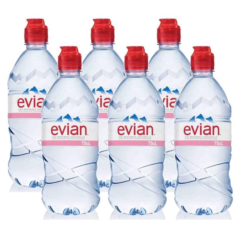 Água Mineral Evian Sem Gás Plástico 750ml 06 Unidades
