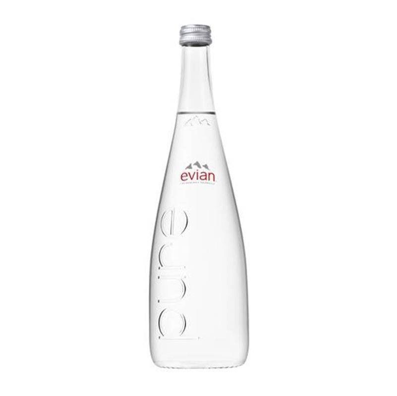 Água Mineral Evian Sem Gás Vidro 750ml
