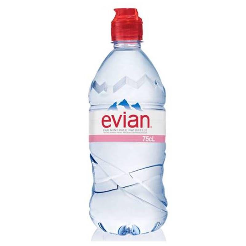 Água Mineral Evian Sem Gás Plástico 750ml