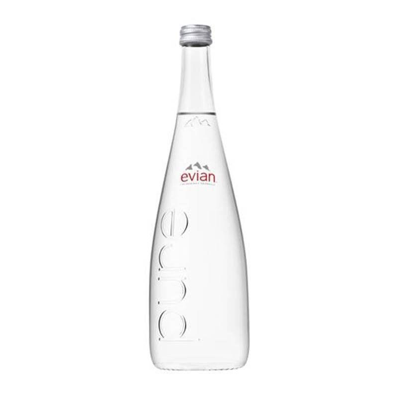 Água Mineral Evian Sem Gás Vidro 750ml 06 Unidades