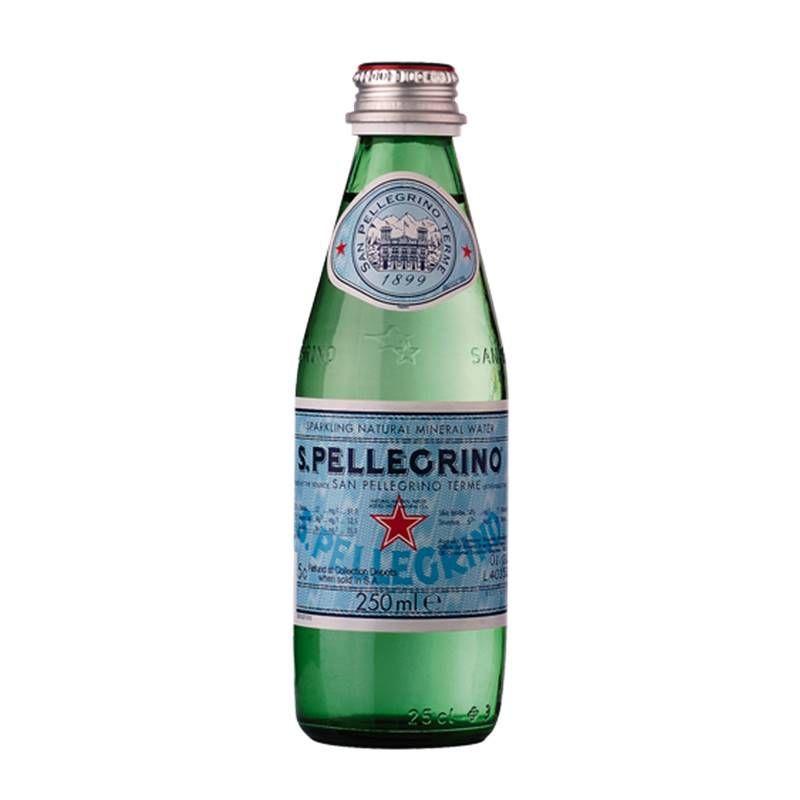 Água Mineral S. Pellegrino Gaseificada 250ml 06 Unidades