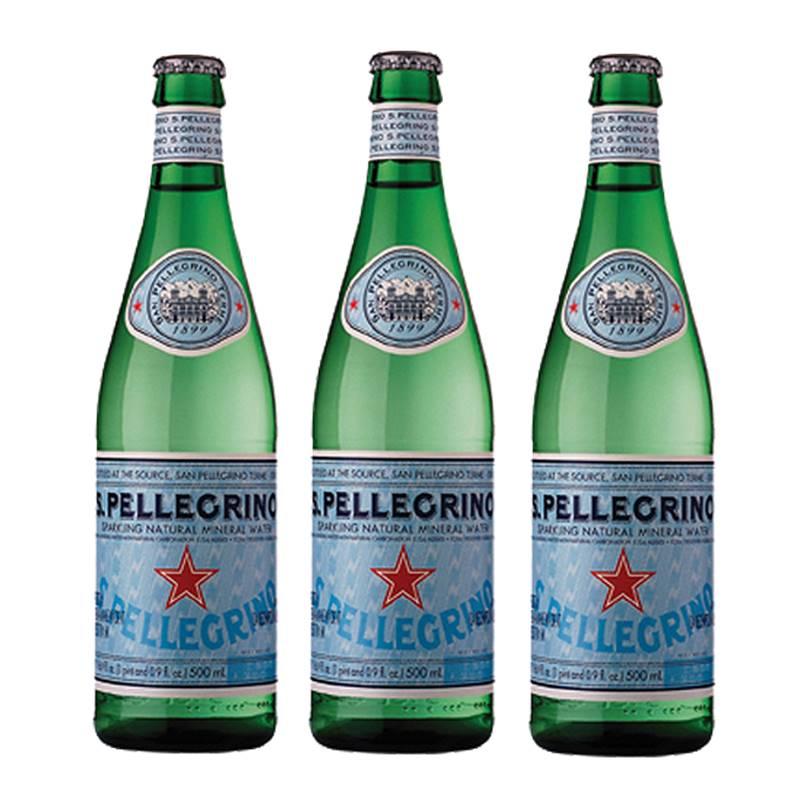 Água Mineral S. Pellegrino Gaseificada 505ml 03 Unidades
