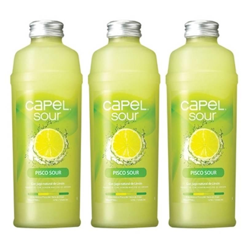 Coquetel Pisco Capel Sour Limão 700ml 03 Unidades