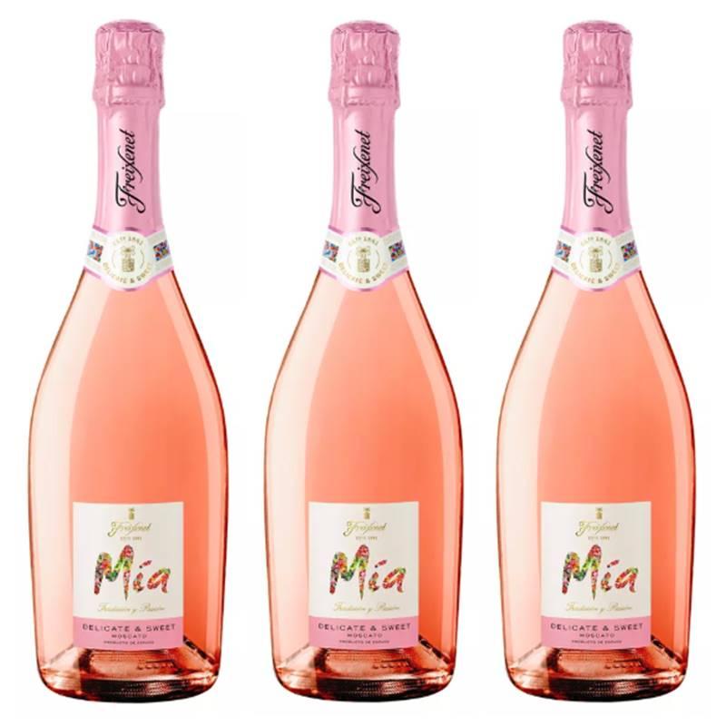Espumante Freixenet Mia Delicate e Sweet Rosé 750ml 03 Unid.