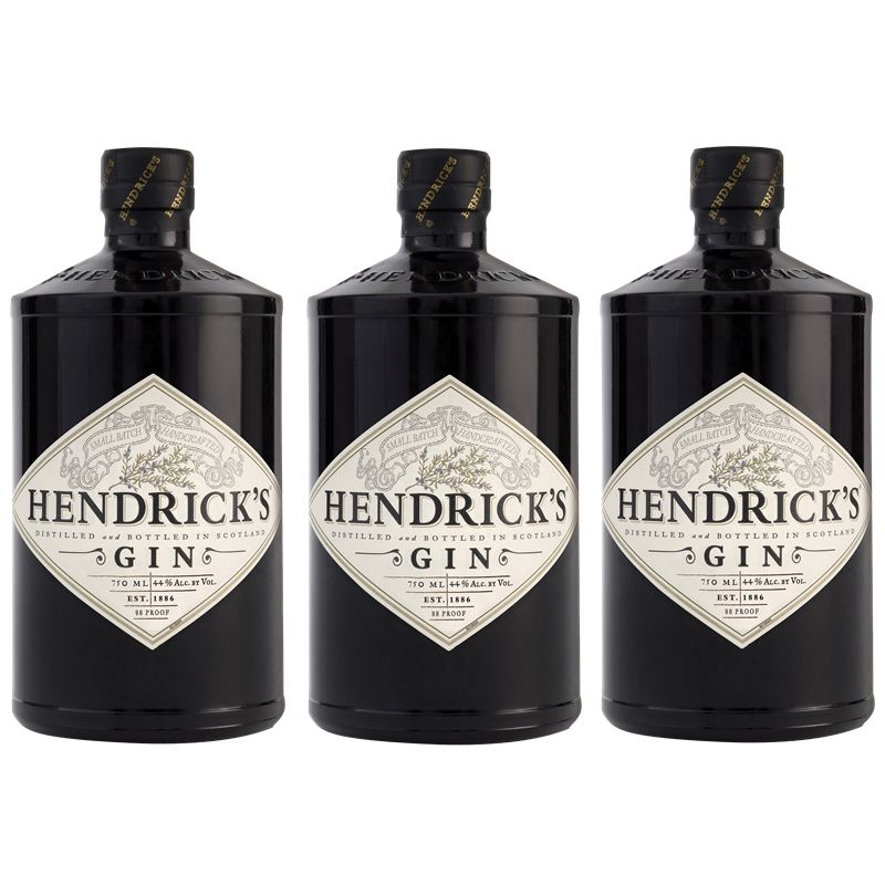 Gin Hendricks 750ml 03 Unidades