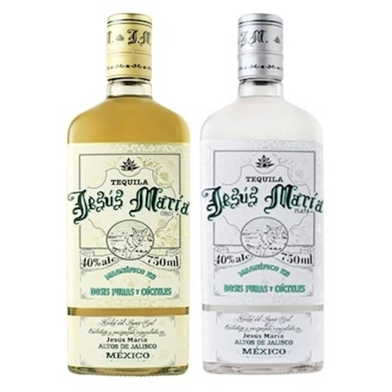 Kit 02 Tequilas Jesus Maria 750ml Ouro e Prata