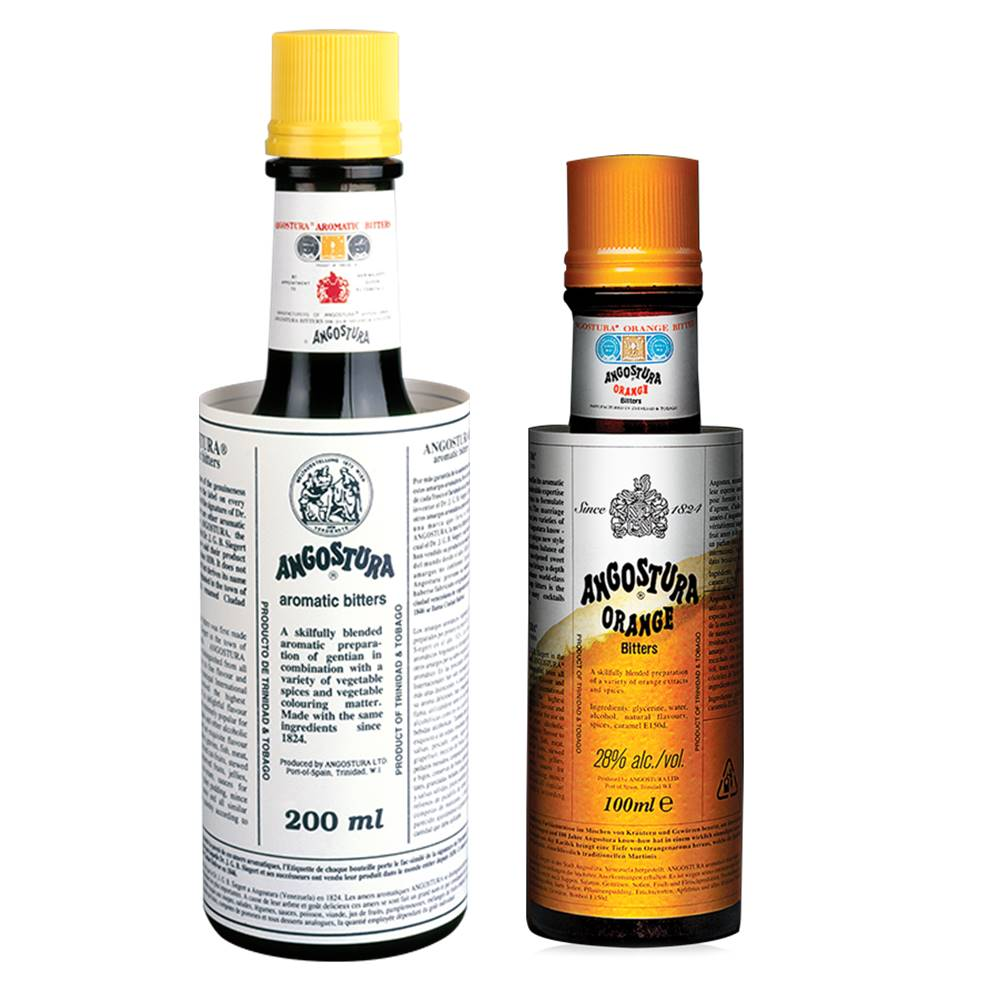 Kit 02 Unid. Bitter Angostura Aromatic 200ml e Orange 100ml