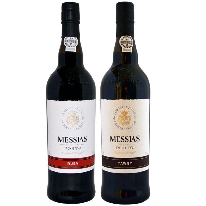 Kit 02 Unidades Vinho Do Porto Messias 750ml Ruby e Tawny