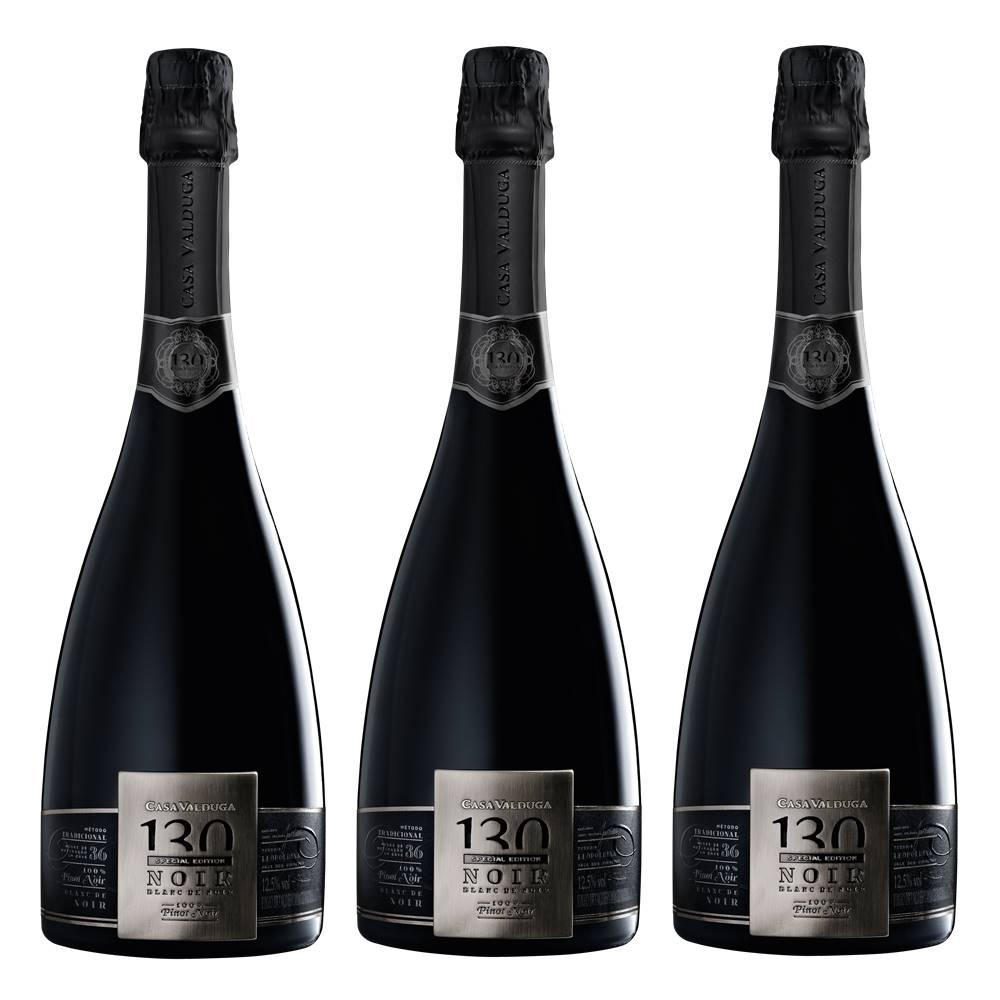 Kit 03 Un. Espumante Casa Valduga 130 Brut Blanc Noir 750ml