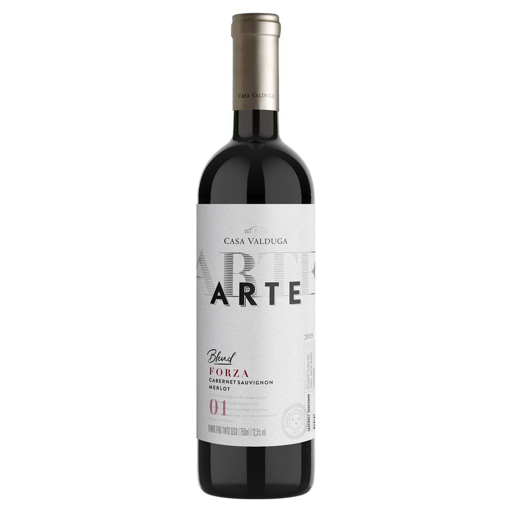 Kit 03 Un. Vinho Casa Valduga Arte Cabernet e Merlot 750ml