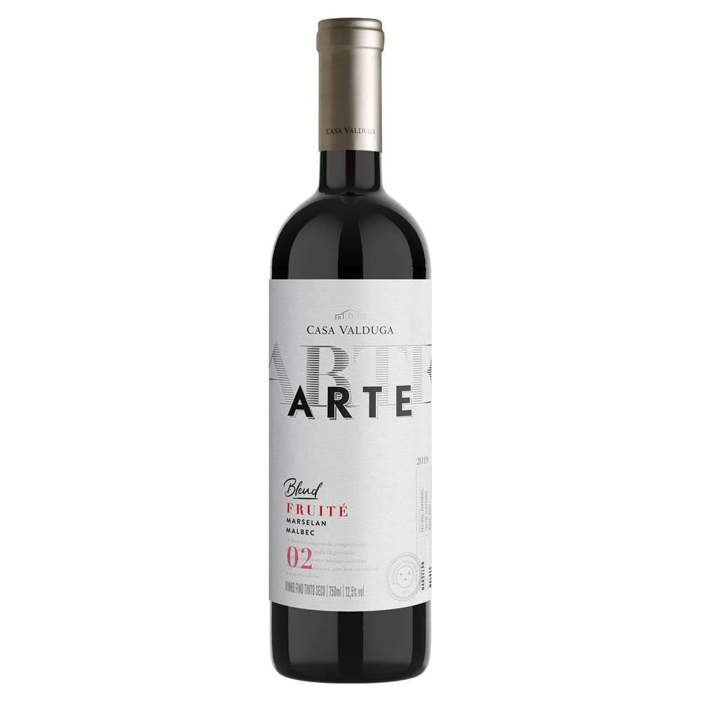 Kit 03 Un. Vinho Casa Valduga Arte Marselan e Malbec 750ml