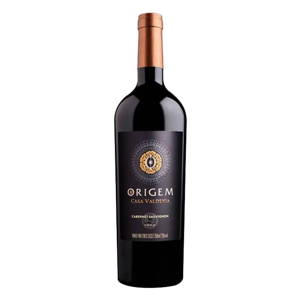 Kit 03 Un Vinho Casa Valduga Origem Cabernet Sauvignon 750ml