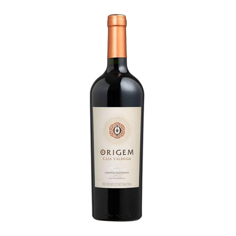 Kit 03 Un. Vinho Casa Valduga Origem Elegance Cabernet 750ml