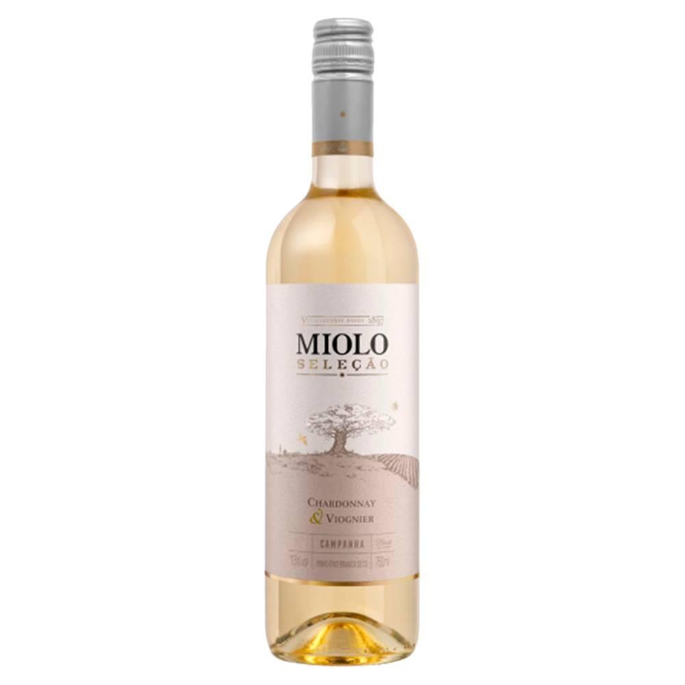 Kit 03 Un. Vinho Miolo Seleção Chardonnay e Viognier 750ml