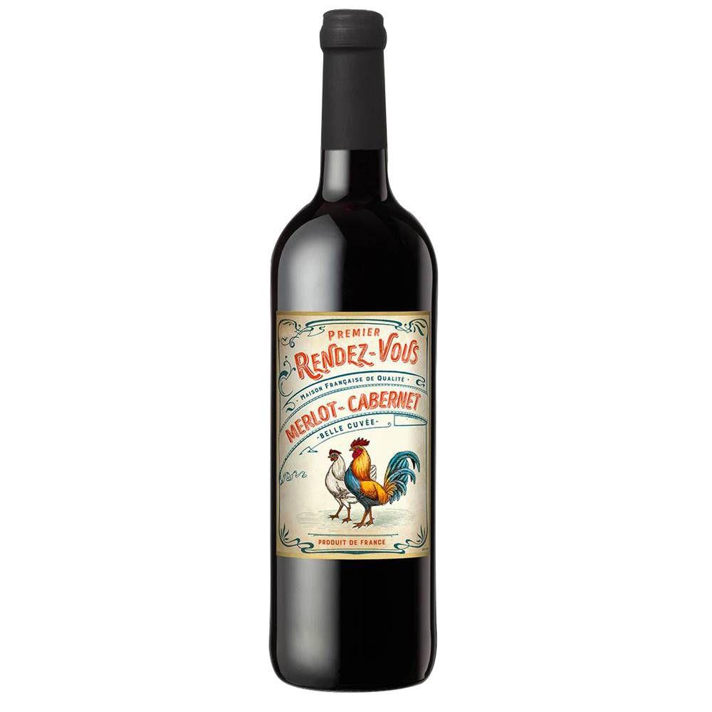Kit 03 Un. Vinho Premier Rendez-Vous Merlot - Cabernet 750ml