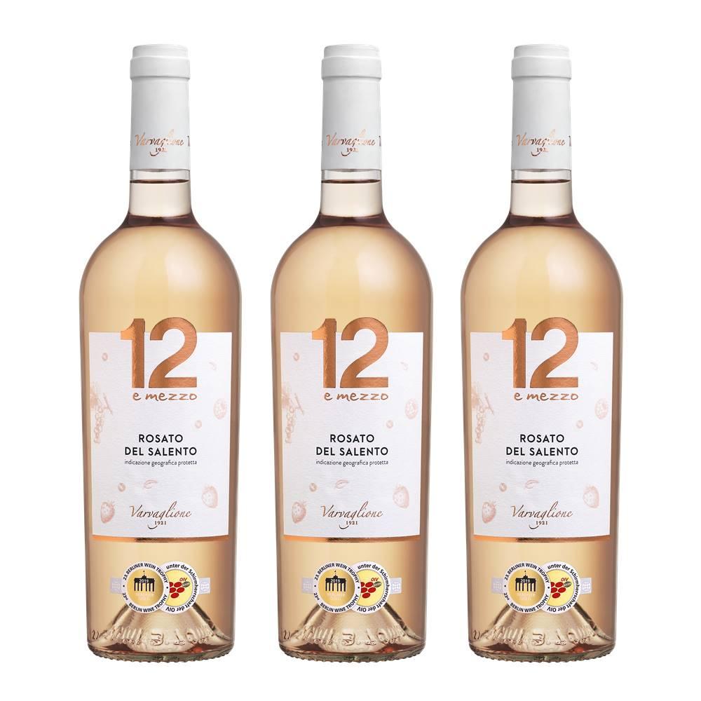 Kit 03 Unid. Vinho 12 e Mezzo Rosato del Salento IGP 750ml