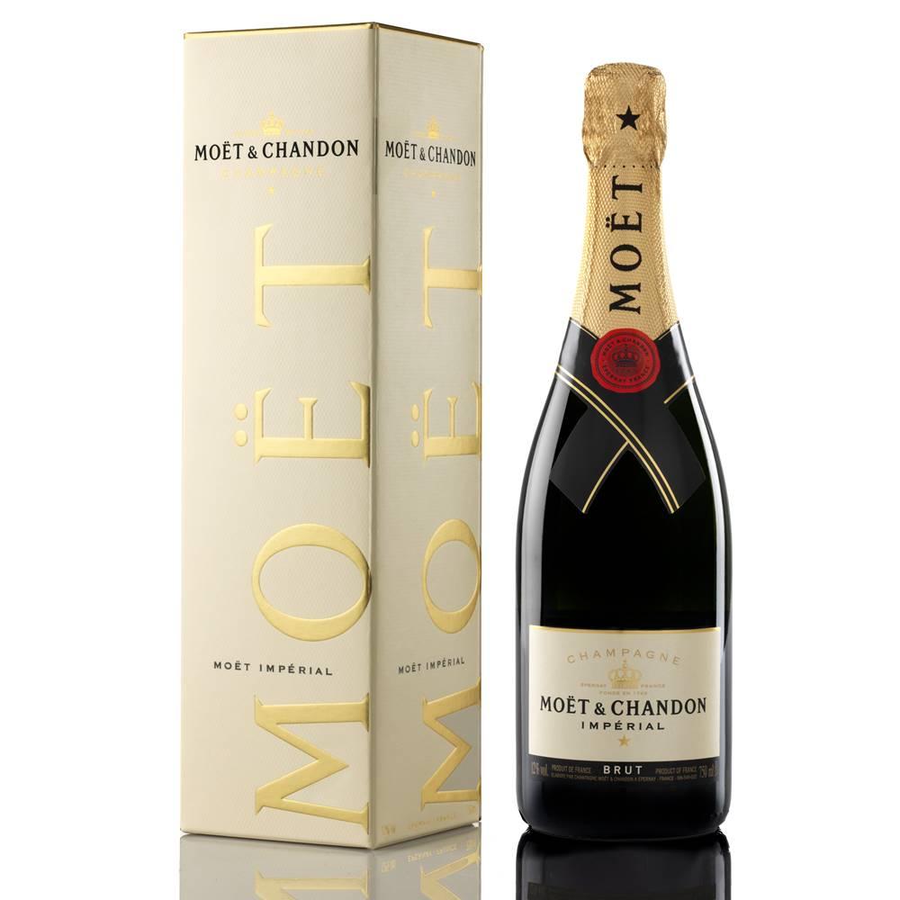 Kit 03 Unidades Champagne Moet e Chandon Impérial Brut 750ml