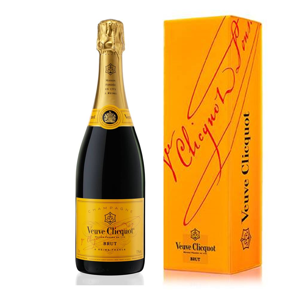 Kit 03 Unidades Champagne Veuve Clicquot Brut 750ml