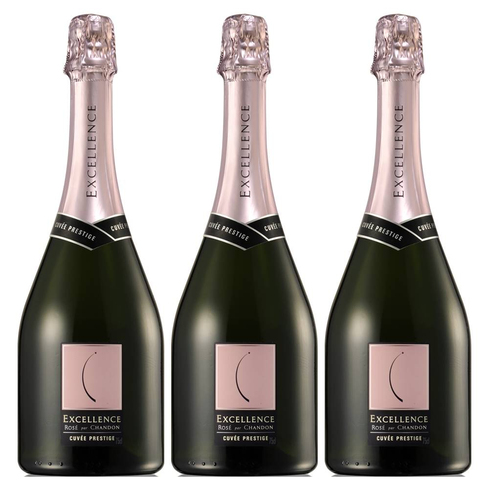 Kit 03 Unidades Espumante Chandon Excellence Brut Rosé 750ml