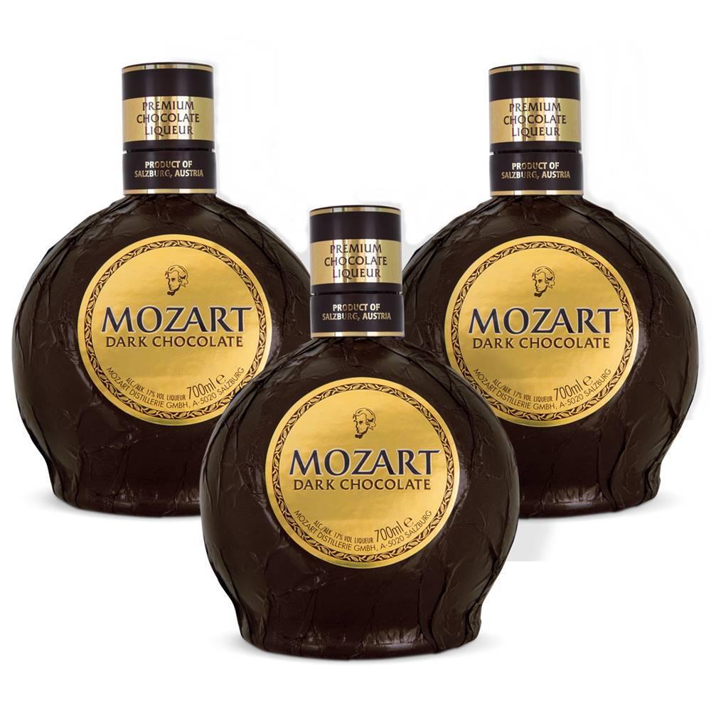 Kit 03 Unidades Licor Mozart Dark Chocolate 700ml