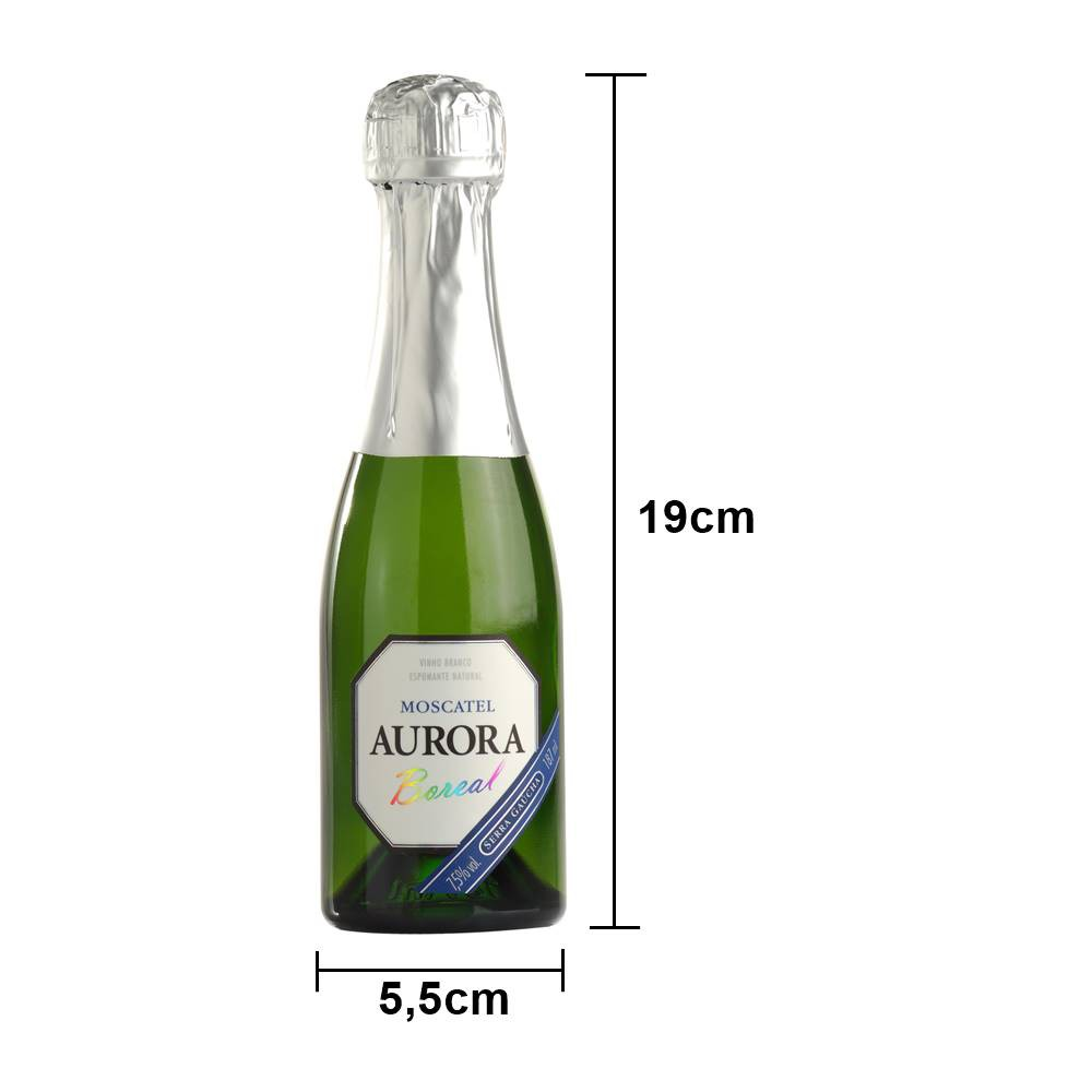 Kit 03 Unidades Mini Espumante Aurora Moscatel 187ml