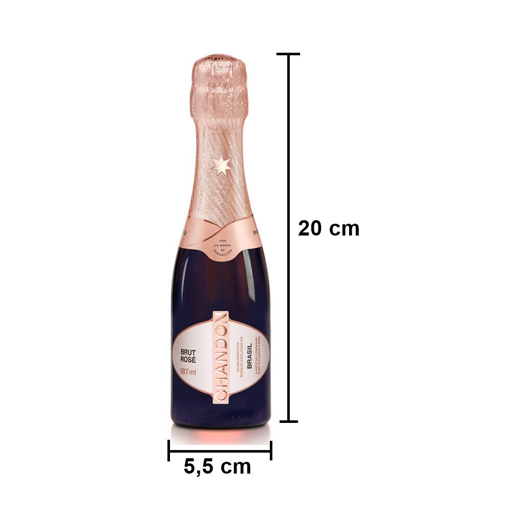 Kit 03 Unidades Mini Espumante Chandon Baby Brut Rosé 187ml