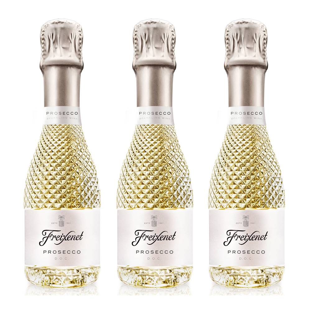 Kit 03 Unidades Mini Espumante Freixenet Prosecco DOC 200ml
