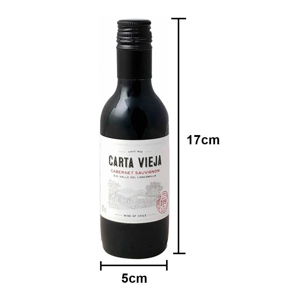 Kit 03 Unidades Mini Vinho Carta Vieja Cabernet Sauvignon 187ml