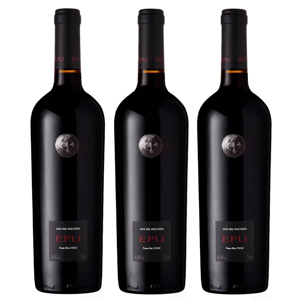 Kit 03 Unidades Vinho Almaviva Epu 750ml