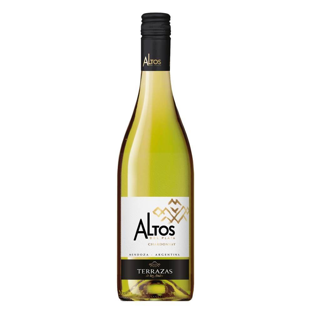 Kit 03 Unidades Vinho Altos Del Plata Chardonnay 750ml