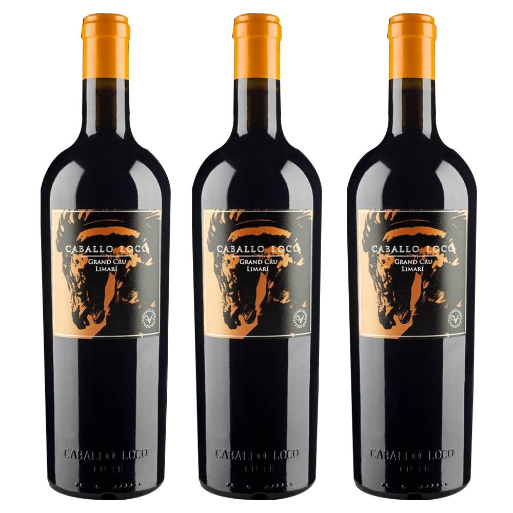 Kit 03 Unidades Vinho Caballo Loco Grand Cru Limari 750ml