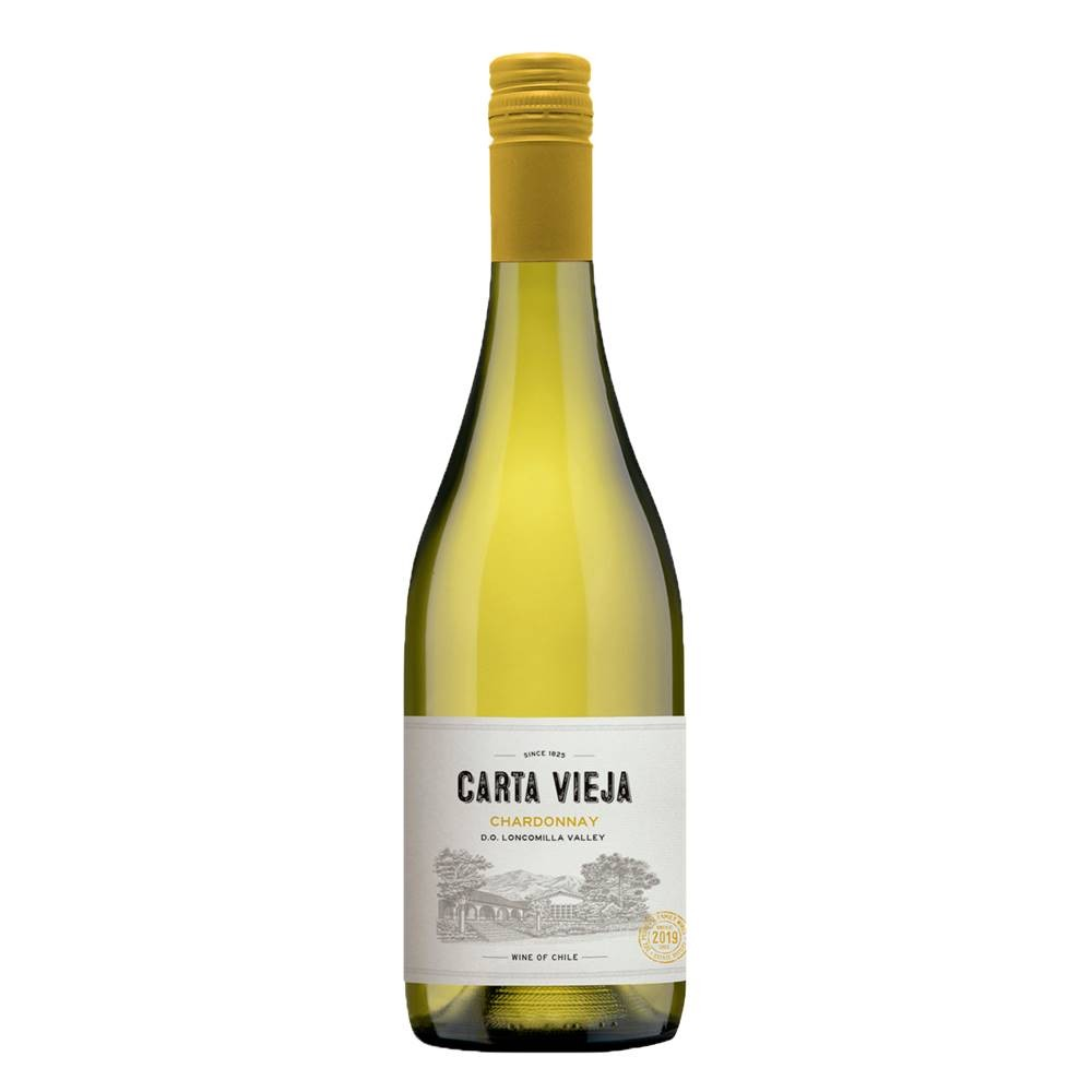 Kit 03 Unidades Vinho Carta Vieja Chardonnay 750ml