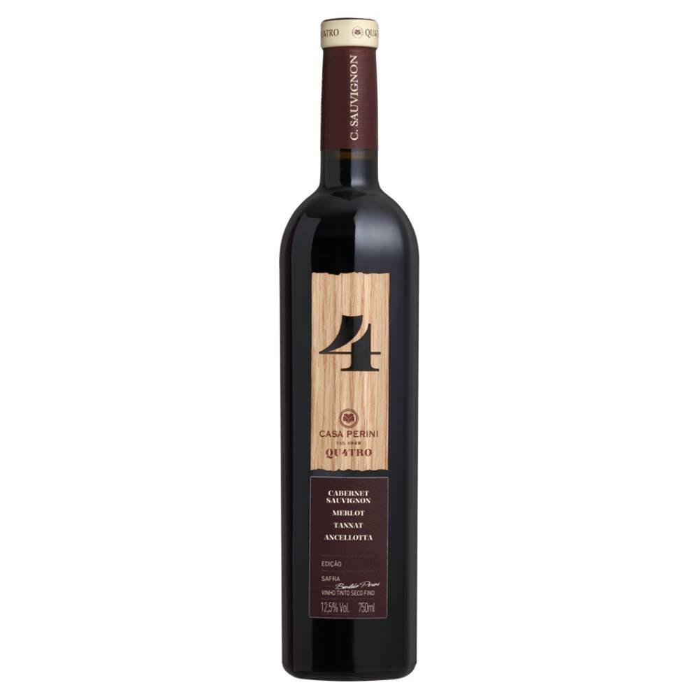 Kit 03 Unidades Vinho Casa Perini 4 Quatro 750ml