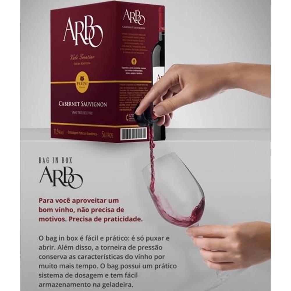 Kit 03 Unidades Vinho Casa Perini Arbo Merlot Bag in Box 3Lt