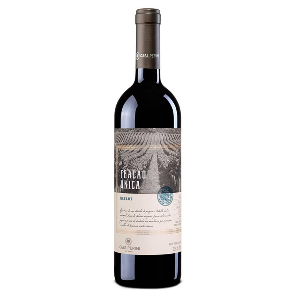 Kit 03 Unidades Vinho Casa Perini Fração Única Merlot 750ml