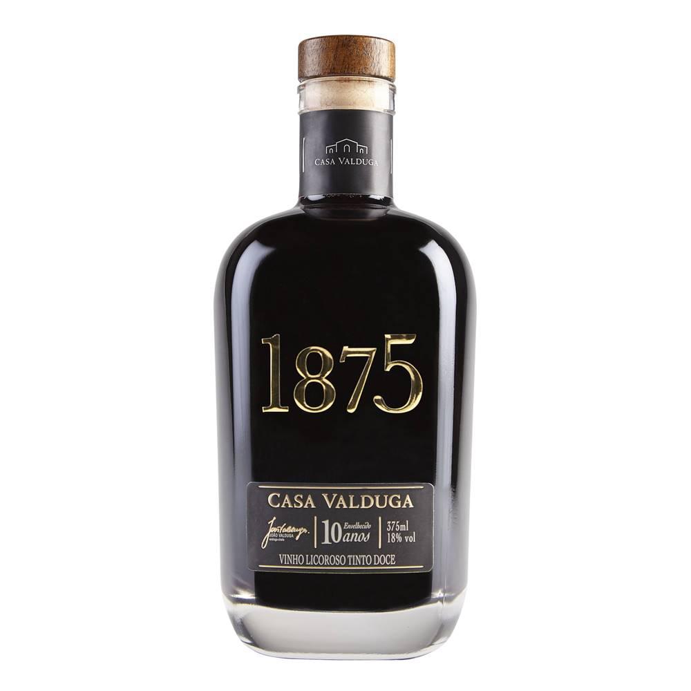 Kit 03 Unidades Vinho Casa Valduga 1875 Licoroso Tinto 375ml